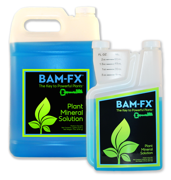 BAM-FX, BAM-FX the key to powerful plants, powerful plants, BAM-FX 1 Gallon, BAM-FX 16oz